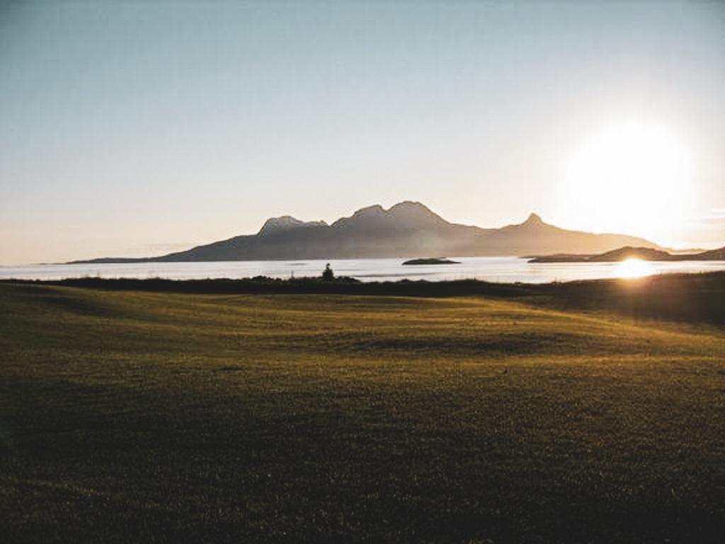 Bodø Golfpark in Vinteren