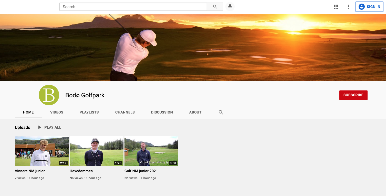 Bodo Golfpark YouTube Channel